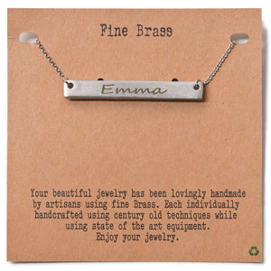 Customized Rhodium Plated Necklace