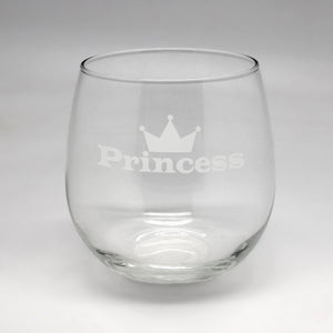 Princess Large Stemless Wine Glass