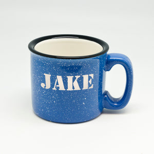 All-Caps Name Campfire Mug