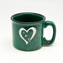 Heart With Initials Campfire Mug