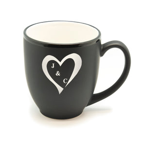 Heart With Initials Hilo Bistro Mug