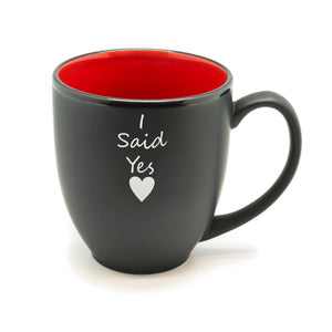 I Said Yes Heart Hilo Bistro Mug