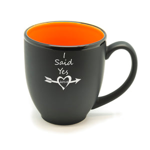 I Said Yes Heart Date Hilo Bistro Mug