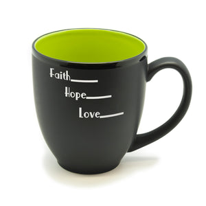 Faith Hope Love Hilo Bistro Mug