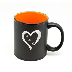 Initials in Heart Hilo Straight Mug