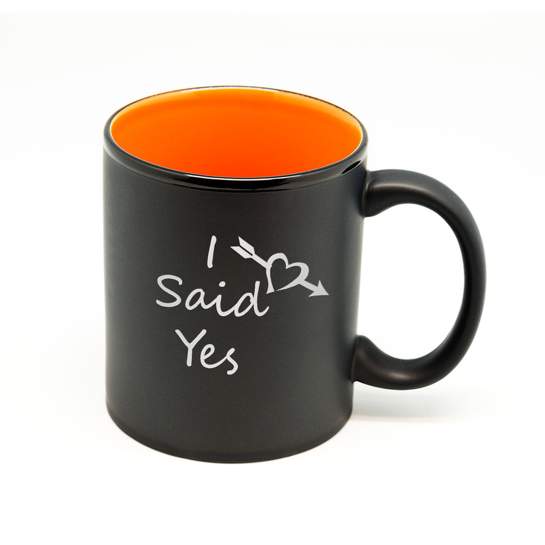 I Said Yess Heart Arrow Hilo Straight Mug