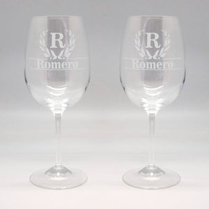 20 oz First Names Wine Glass Set