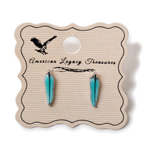 Turquoise Color Feather Earrings