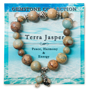 Terra Jasper Natural Real Gemstone Bracelet