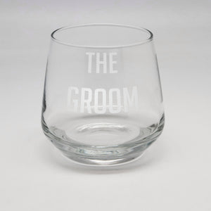 11.75 oz Groom Rocks Glass