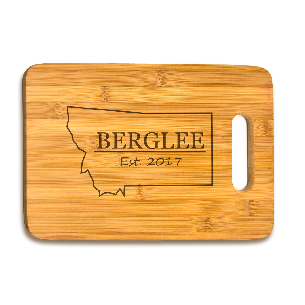 Large Bamboo Cutting Board Name Year State Shape