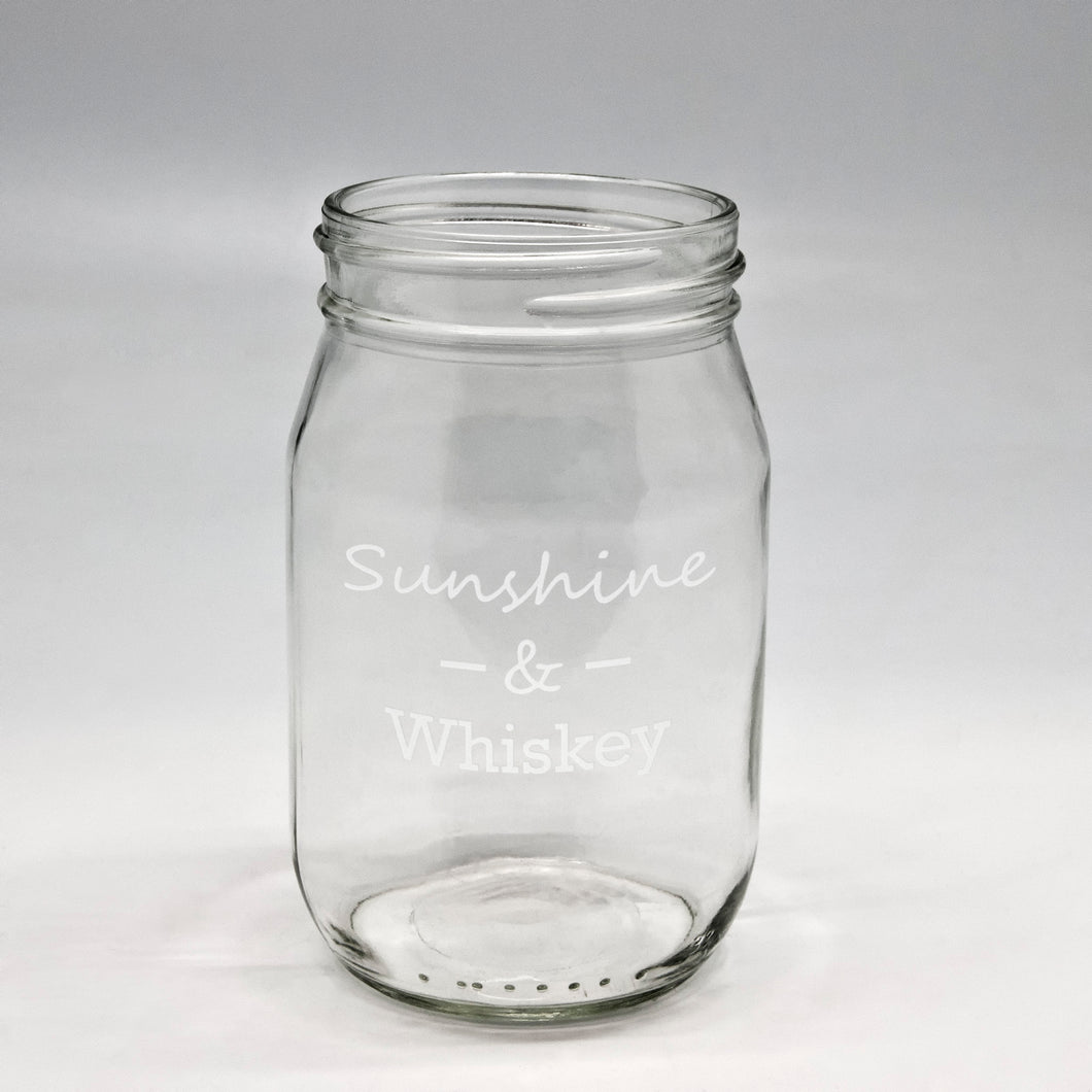 Sunshine Whiskey Pint Mason Jar