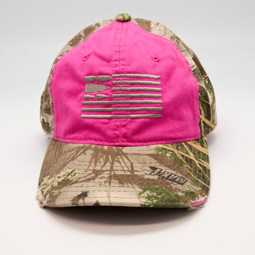 Pink With Realtree Camo Hat
