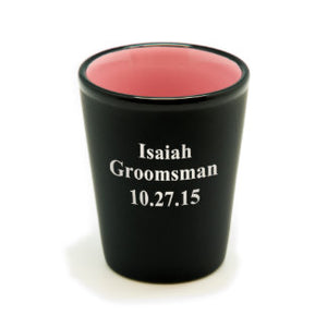 Personalized Black Matte Shot Glass