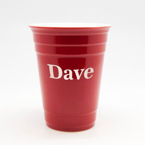 Customized Red Glass Solo Cup