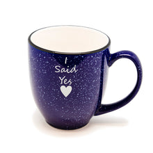 I Said Yes Heart Santa Fe Bistro Mug