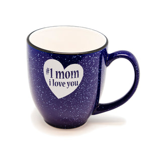 No 1 Mom Love Santa Fe Bistro Mug