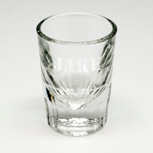 All-Caps Name Shot Glass