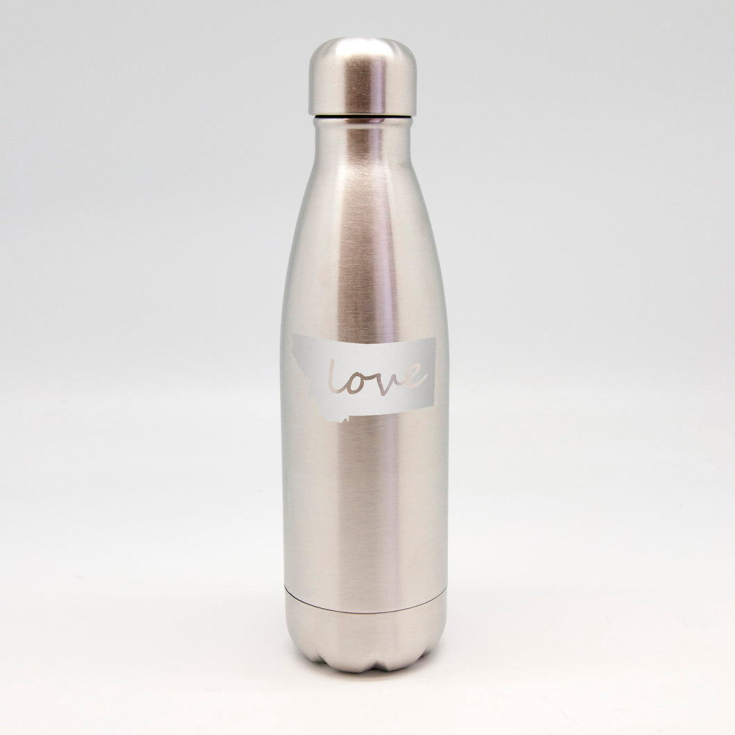 Love Inside State Stainless Metal Bottle