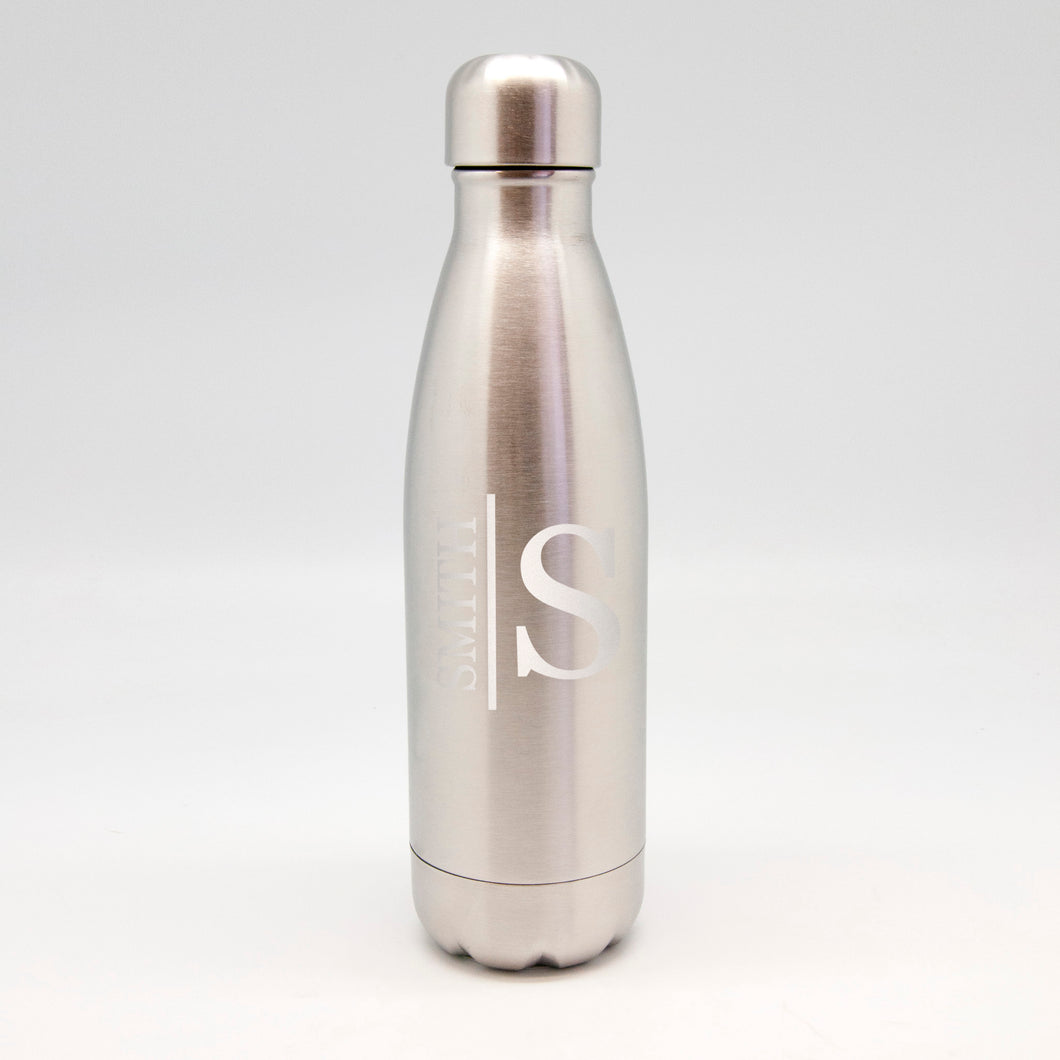 Last Name & Initial Stainless Metal Bottle