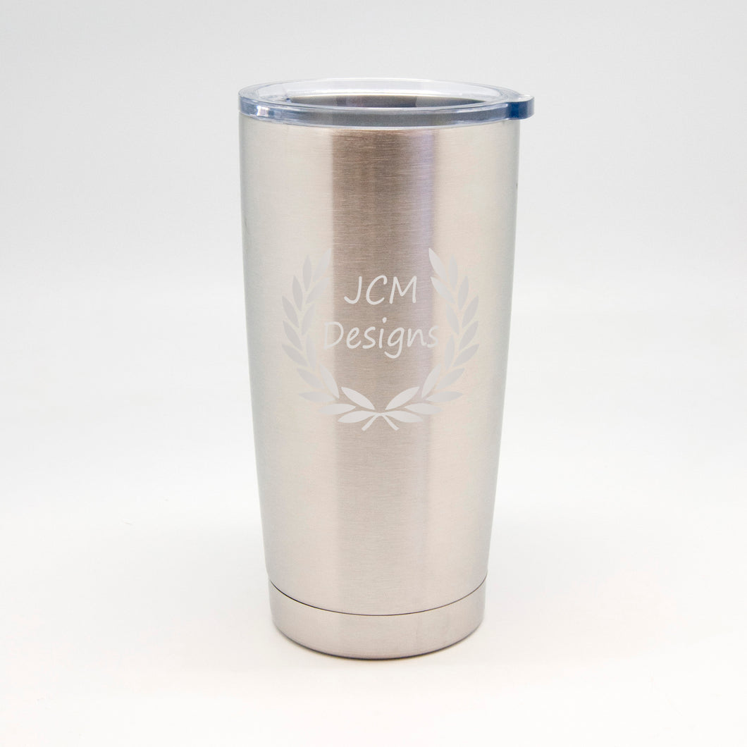 Business Name Stainless Metal Tumbler