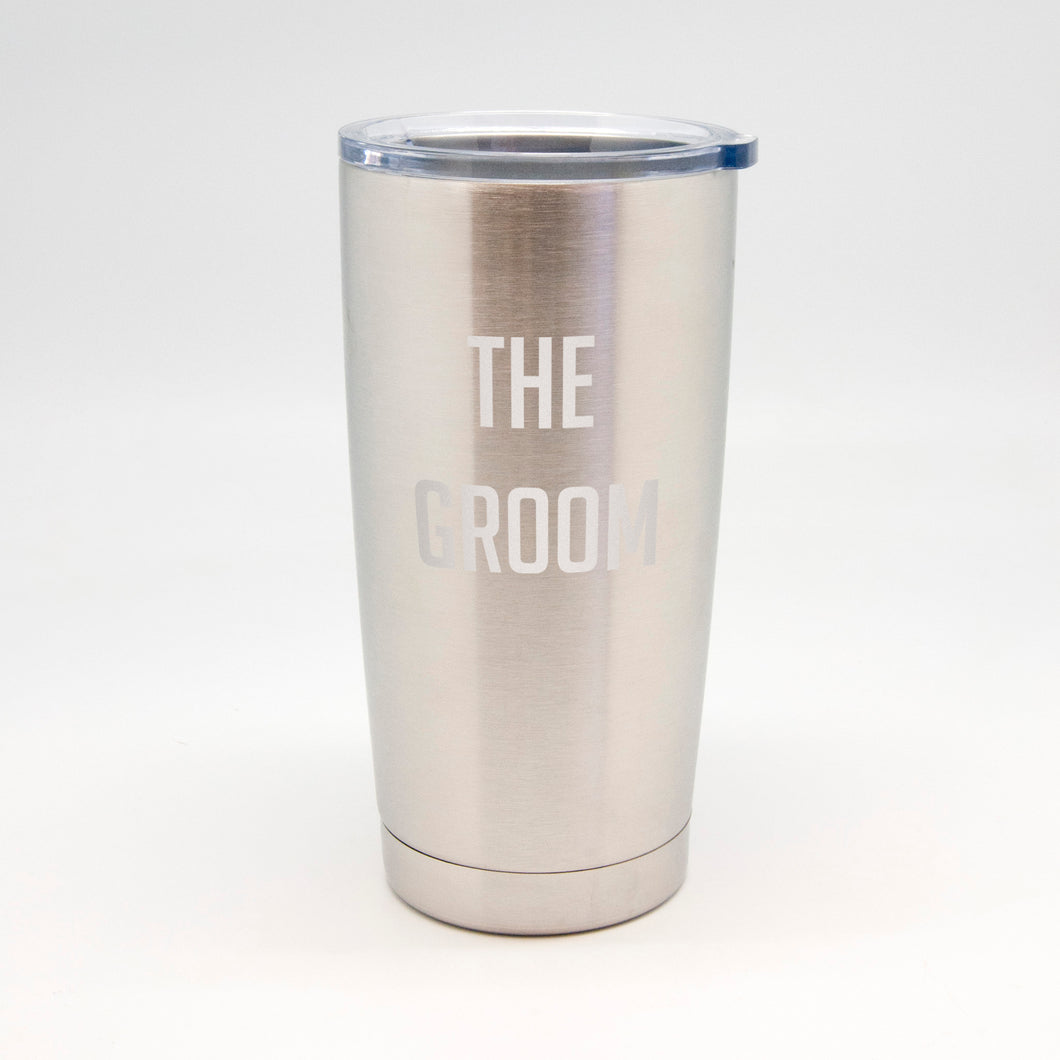 The Groom Stainless Metal Tumbler