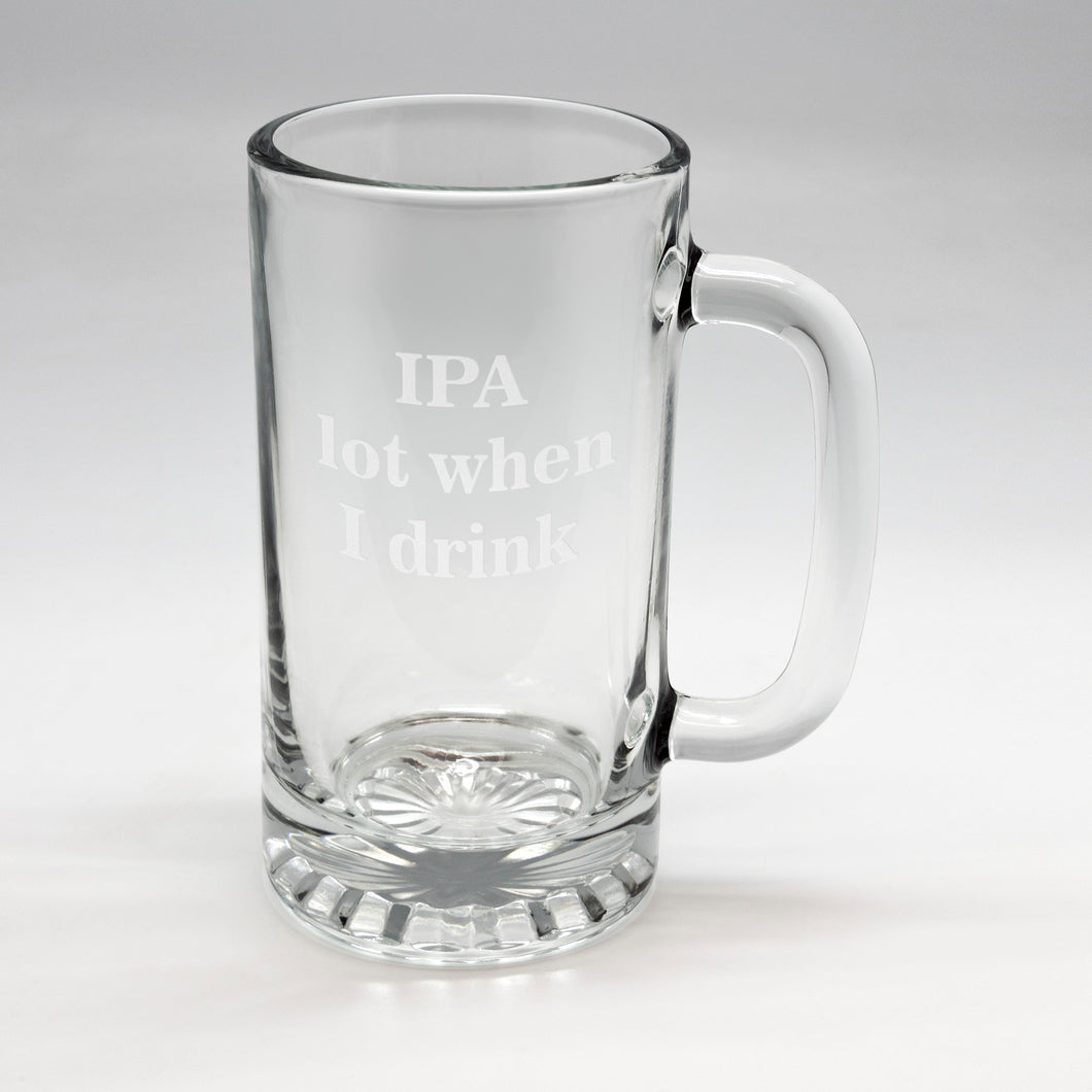 IPA Lot Tankard Glass