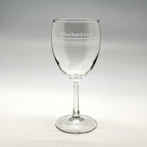 Name Designation & Date Wine Glass