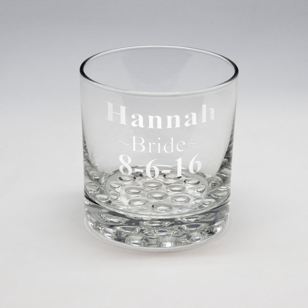 Name Designation & Date Whiskey Glass