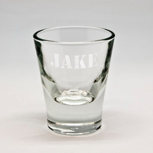 All-Caps Name Whiskey Shot Glass