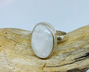 Elliptic Moonstone ring Size 8