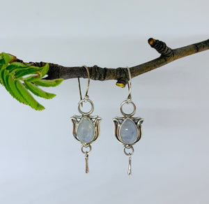 Peace Lilly Moonstone earrings
