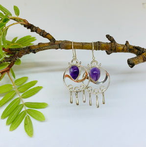 Yin Yang Amethyst earrings