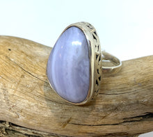 Calming Blue Lace Agate Ring      Size 8