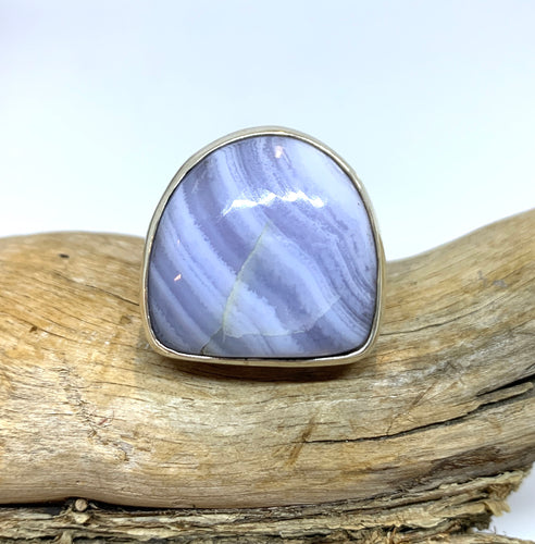Blue Lace Agate Ring Size 10