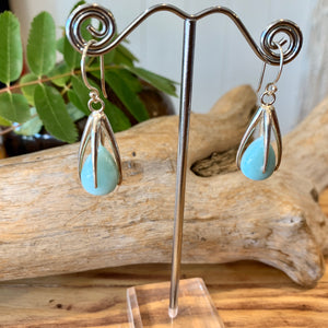 Larimar Gem Drop earrings