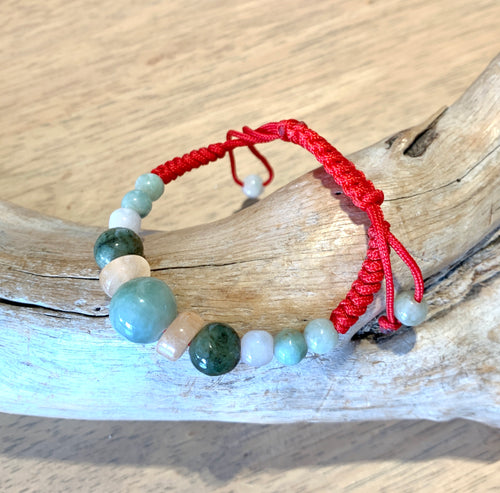 Mixed Jade beaded Bracelet