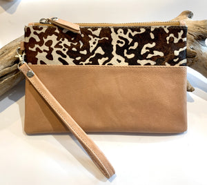 Tan Little Moo purse