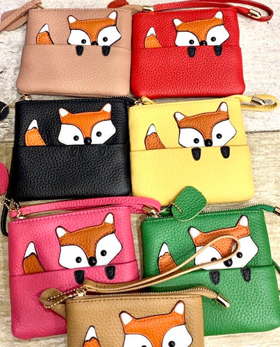 Little Fox cow hide wallet