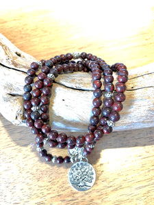 Poppy Jasper Wrap beaded Bracelet