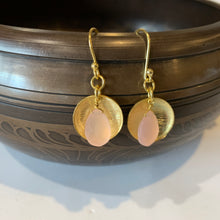 Chalcedony Rose Gold Drop Earrings