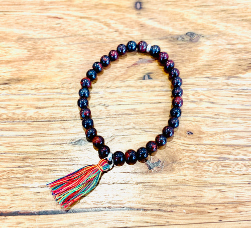 Poppy Jasper with tassel  Bracelet