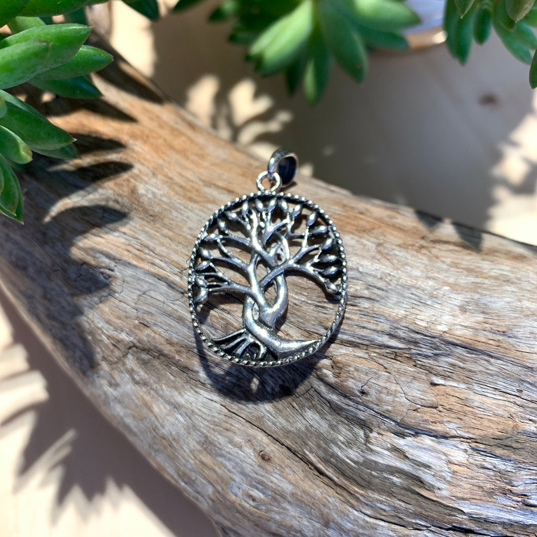 Silver Tree of Life detailed Pendant