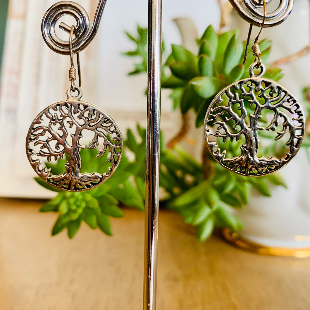 Tree Of Life detailed round Earrings