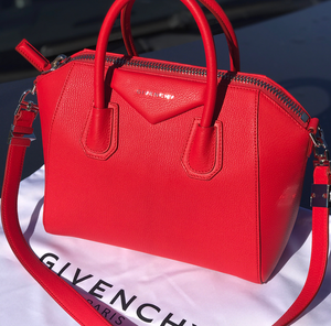 Givenchy Lipstick Red Antigona Bag In Small 9ddfe46095d1b