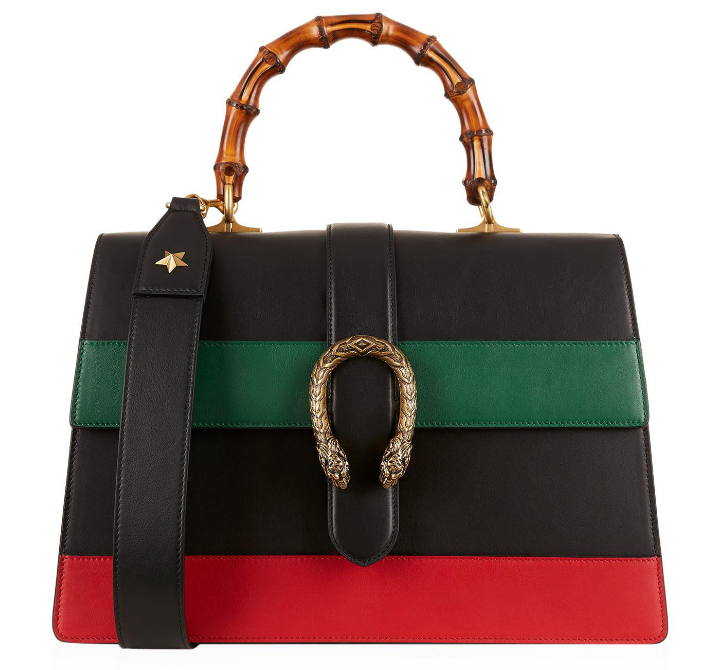 3aaf634251b0 Gucci Dionysus Striped Bamboo Top-Handle Bag – Remy Barnes Consignment