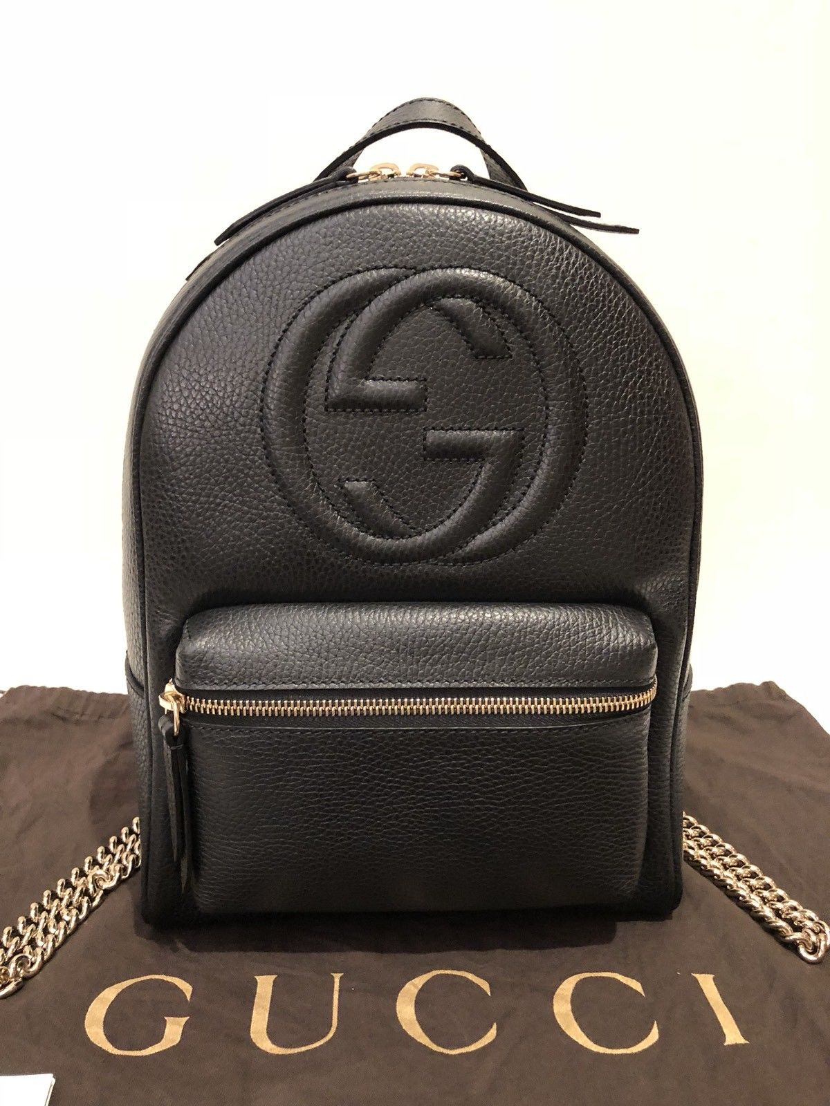 Gucci Soho Chain Black Leather Backpack – Remy Barnes Consignment a2ae01f3de2ac
