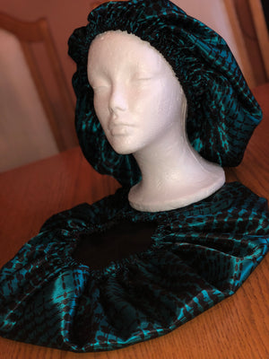 Midnight Satin Bonnet