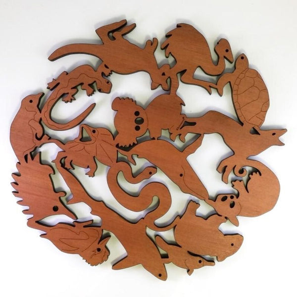 Australian Timber Handcrafted Animal Trivet