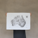 Map of Australia Tea Towel